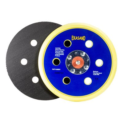 Ekasand Disc Pad 6 x 6HV L / P 4-Rivet Hook & Loop