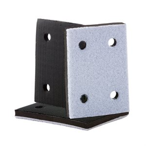 Interface Backup Pad 3 x 4 4 Hole Hook & Loop - Hard Density