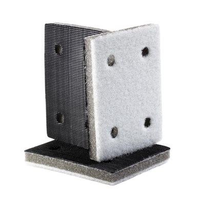 Interface Backup Pad 3 x 4, 4 Hole Hook & Loop - Soft Density